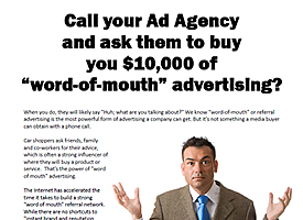 Buy Word of Mouth Advertising